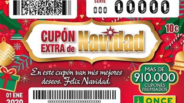 Cupó Extra Nadal ONCE, amb ceros.